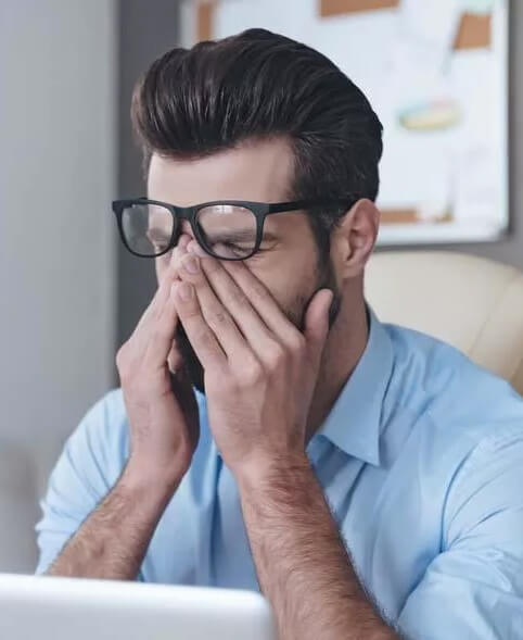 Из-за постоянного напряжения зрение стало подводить чаще